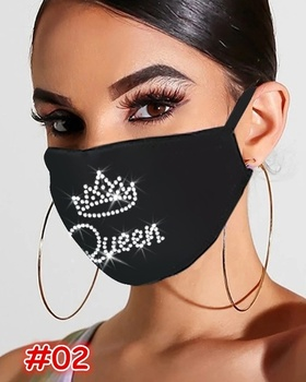 Sexy Glitter Sequined Masks for Women Warm and Dustproof Colorful Mask Breathable Face Jewelry Nightclub Face Accessorie