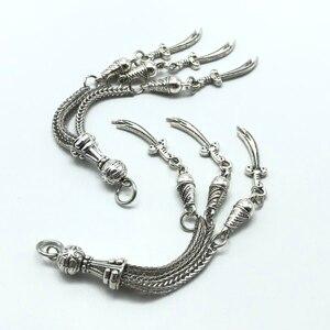 Image 4 - 3pcs charm Turkish knife rosary pendant Muslim prayer beads for jewelry making diy handmade accessories materials