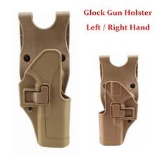 New Type Glock Gun Holster Left / Right Hand Tactical Pistol Case for Glock 17 19 22 23 31 32 Gun Hunting Gun Belt Holster unbrand glock 17 18 19 23 32 36 tactical holster