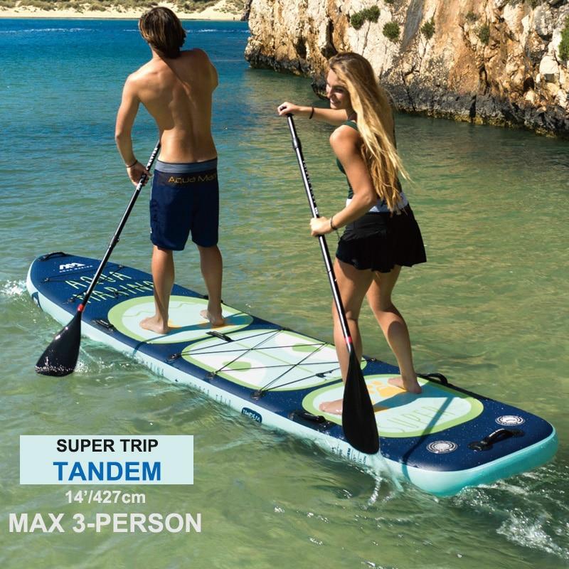 AQUA MARINA new SUPER TRIP TANDEM big size inflatable sup stand up paddle board surf board surfboard inflatable kayak camera