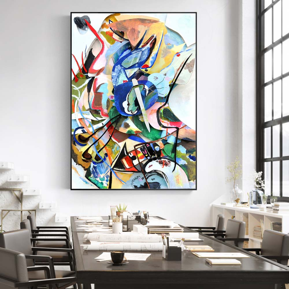 Wassily Kandinsky Abstract Canvas Art Paintings Posters And Prints Famous Artwork Reproductions Wall Pictures Home Decoration