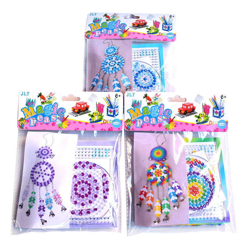 Dream Catcher Windbell 5mm Hama Beads Set With Templates Accessories For Kids DIY 3D Puzzle Educational Toys Mid Fuse Beads(China)