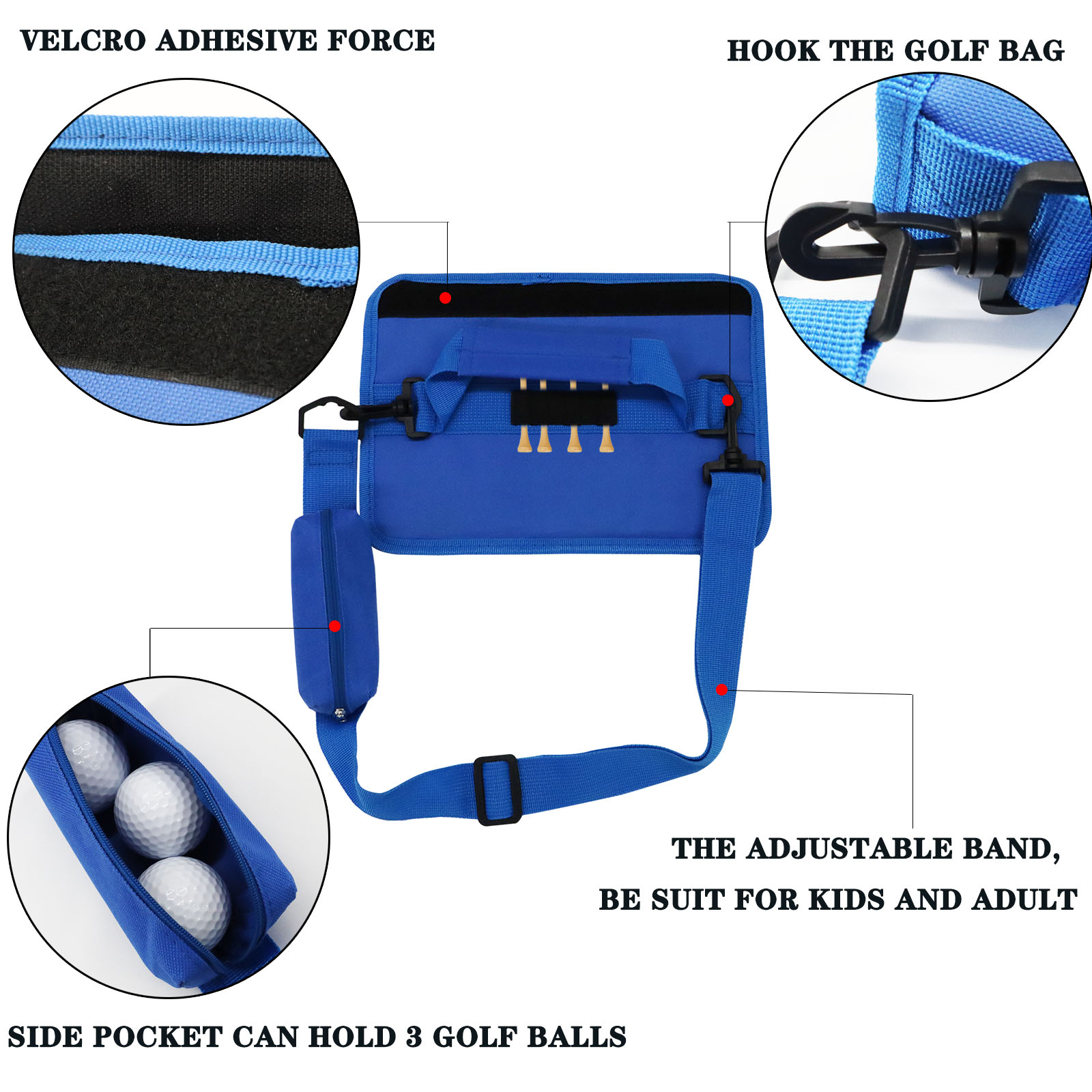 Hff96e170a45b414a8ba3f6d8c4babfabO Lightweight Mini Golf Club Bag Driving Range Carrier Course Training Case Black Blue Pink for Men Women Kids