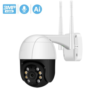 3MP PTZ Wifi IP Camera 4X Digital Zoom ONVIF P2P 1080P Security CCTV Camera Audio AI Human Detect Outdoor H.265 Wireless Camera