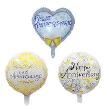 10 pçs 18 polegada feliz aniversário folha balões festa de aniversário decoração helium balloonsadult festa de casamento ouro prata globos suprimentos