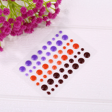 Chocolate Dark-color Sugar Sprinkles Self-adhesive Enamel Dots Resin Sticker For DIY Scrapbooking Photo Album Cards Crafts Decor