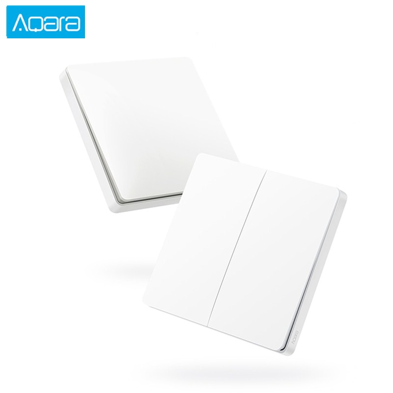 Aqara Smart Wireless Light Switch Wall Switch Single / Double Key ZigBee WiFi Wireless Connection Work With Mijia APP For Home