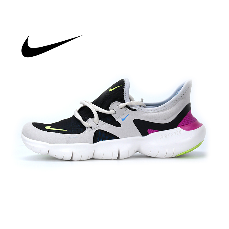 Nike men's shoes FREE RN 5.0 barefoot running shoes wear lightweight shock absorption breathable sports running shoes AQ1289-004 image