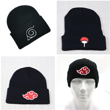 Chapeau tricoté avec Logo de Cosplay Akatsuki, casquette tricotée rouge