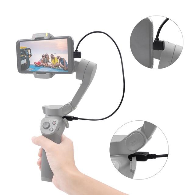 עבור DJI אוסמו נייד 3 כף יד Gimbal מייצב טעינת כבל 35CM מרפק USB מטען להתחבר חוט DJI אוסמו נייד אבזרים