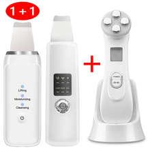 5w1 RF i EMS Photon Lift dokręcić odmładzanie twarzy Remover zmarszczek urządzenie kosmetyczne czyszczenie skóry porów Scrubber usuń zaskórnika