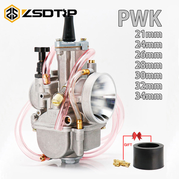 Carburador de motor Universal ZSDTRP PWK 21 24 26 28 30 32 34 2T 4T, Carburador con Power Jet para Koso OKO Keihin 75cc-350cc