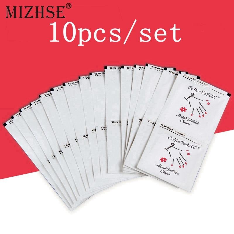 MIZHSE 10pcs Nail Polish Remover Cotton Wipes UV Gel Remover Nail Clean Wipes Nail Art Cleaner Tools Professional Salon Or Home