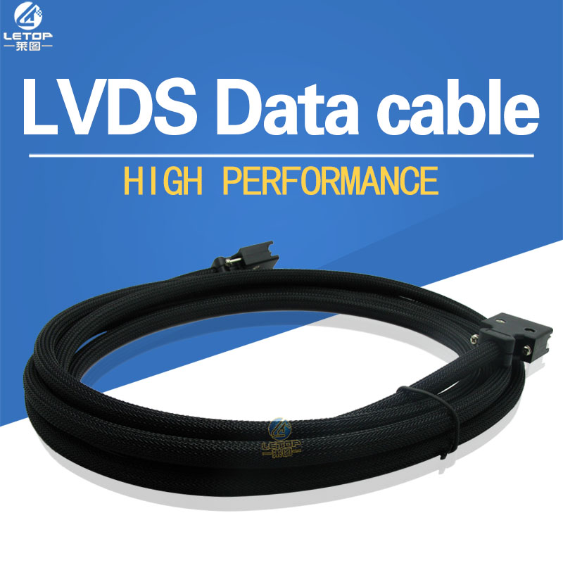 LETOP High Density Cable For Eco Solvent Printer Allwin Gongzheng Human Xuli X6 LVDS Data Cable 4M 6M