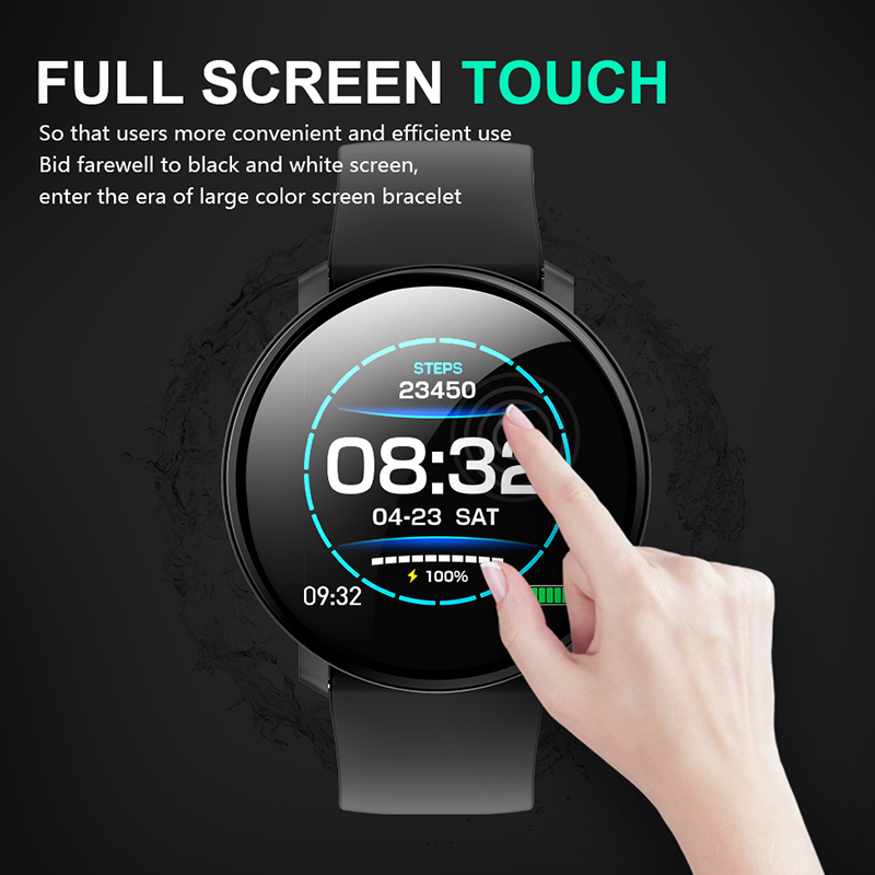 Cobrafly smart watch with Full touch screen Heart Rate Blood Pressure Monitor Waterproof Sports Fitness Tracker PK mi band 4 Q9 in Smart Wristbands from Consumer Electronics