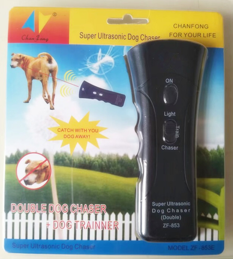 Original ZF 853 Ultrasonic Pet Dog Repeller with Infrared Laser Chaser Anti Barking Training Device Dogs Repellent Bark Control in Repellents from Home Garden