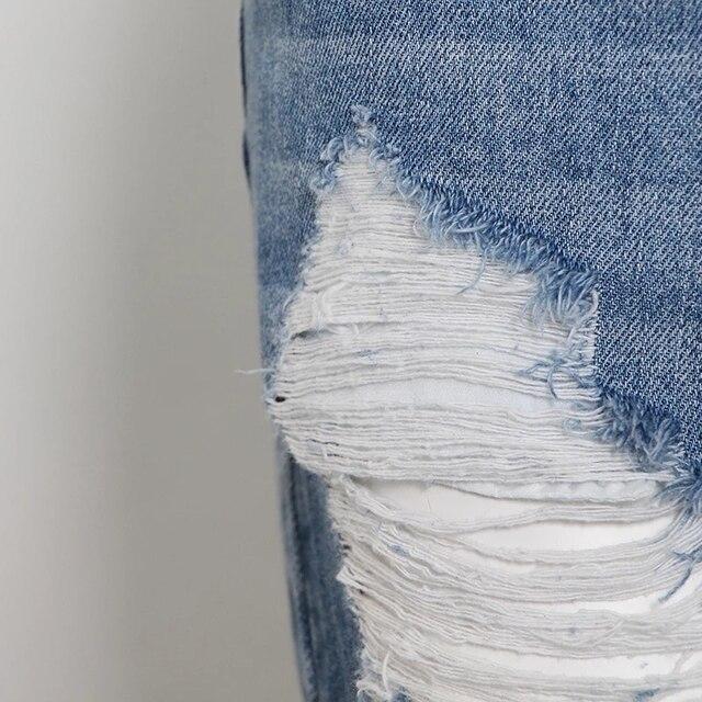 TWOTWINSTYLE Bandage Denim Short For Women High Waist Patchwork Tassel Sexy Casual Shorts Female Fashion New Clothing Summer 5