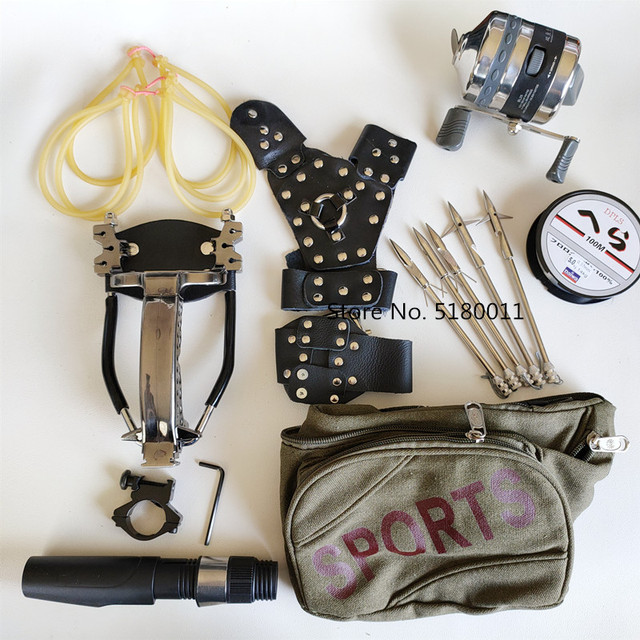 High power speed hunting fishing slingshot shooting arrow bow powerful catapult fishing compound bow fishing 1