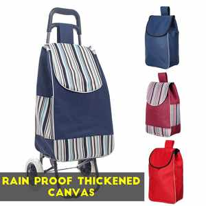Basket Trolley-Bag Tote-Cart Rain-Proof Foldable No-Cluding Luggage Canvas Thickened
