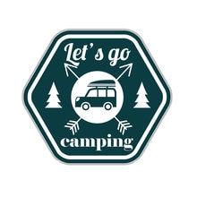 Intéressant voiture autocollants allons Camping moto pare-chocs Anti-UV voiture accessoires couverture rayures imperméable Pvc 15cm X 13cm
