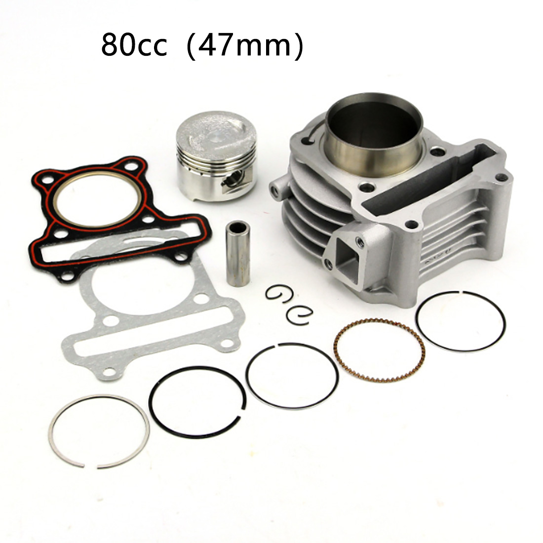 Scooter Cylinder Kit Crankshaft Universal Engine Part Big Bore Practical Piston Ring Aluminum Alloy With Gasket Durable For GY6