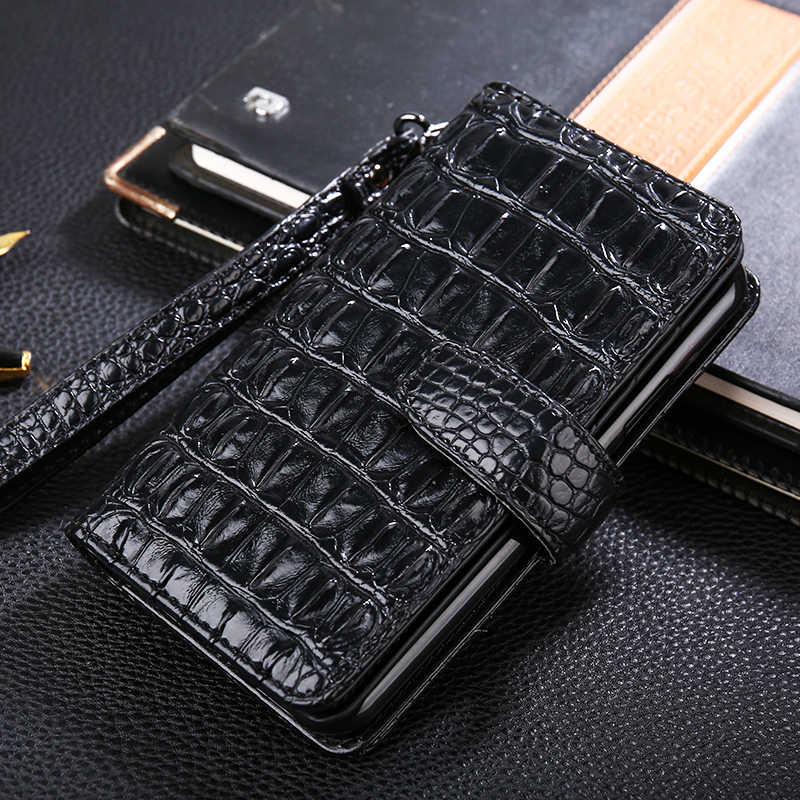 Luxury Flip case Leather Cover For Redmi 3 4 5 5A 4X Note 2 3 6 6A 7 k20 Redmi go 3d crocodile Hand Strap card slot Wallet Cover