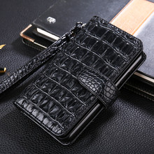 Luxury Flip case Leather Cover For Redmi 3 4 5 5A 4X Note 2 3 6 6A 7 k20 Redmi go 3d crocodile Hand Strap card slot Wallet Cover(China)