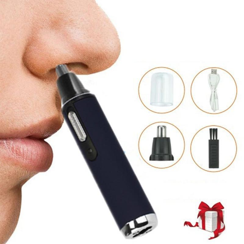 USB Charging Personal Electric Nose & Ear Trimmer Man Woman Face Care Eyebrow Removal Rechargable Hair Trimmer Clipper Shaver