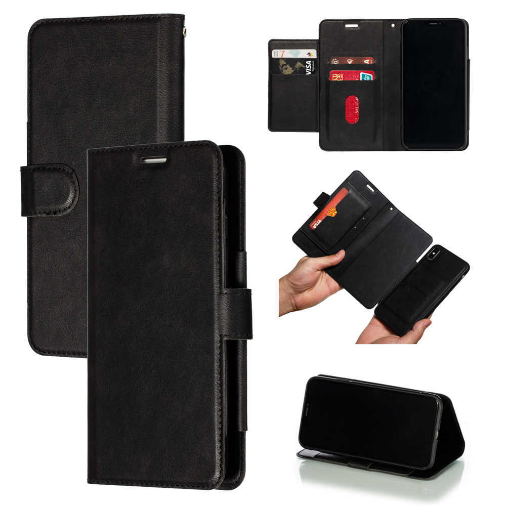 Retro PU Leather Case iPhone 7 6 6S 8 Plus Case iPhone X XS Max XR Case Cover Detachable 2 in 1 Multi Card Wallet Phone cases65
