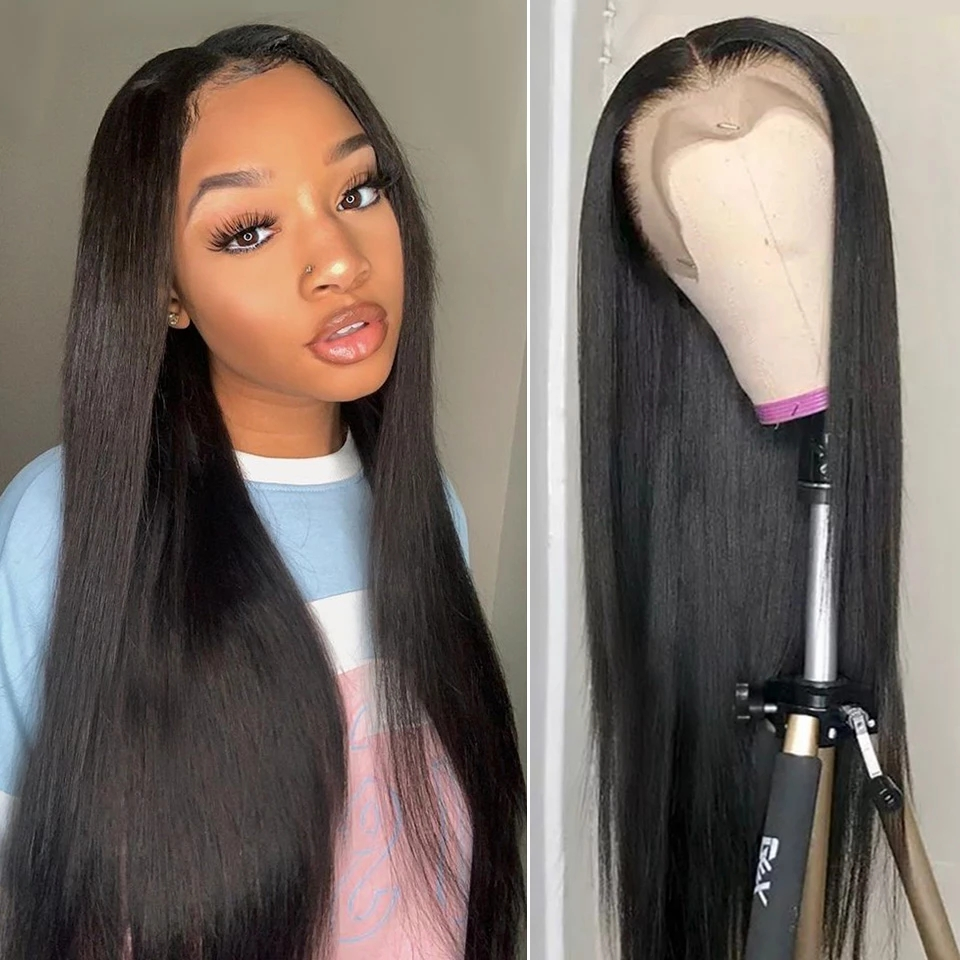 Beaudiva Hair 13x4x1 T Part Lace Wig  Straight Lace Wig 150 Density PrePlucked Straight Lace Front  Wigs 3