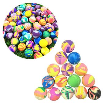 25 szt Skoki piłki trwałe 32mm kolorowe guma elastyczna piłki skoki piłki kulki do odbijania dla dzieci Kid tanie i dobre opinie