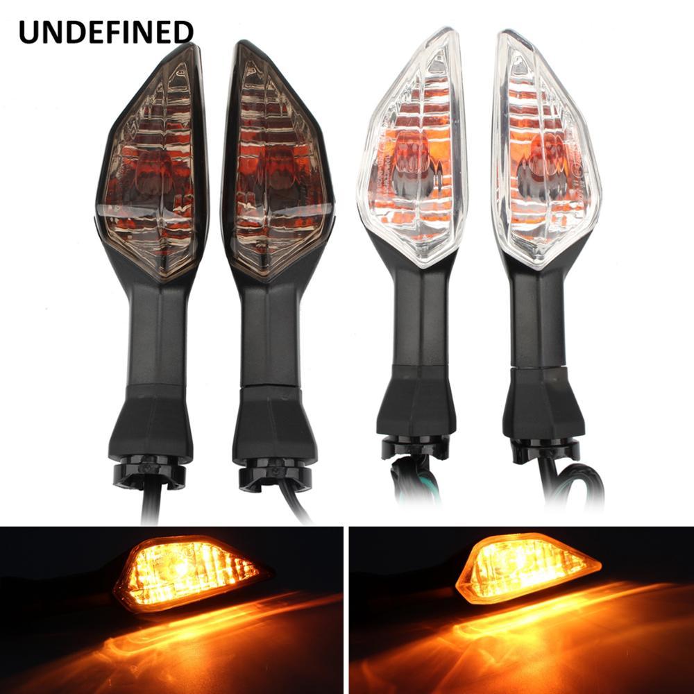 4x LED Turn Signals Light Amber For Kawasaki Z1000 Z750 Z750R Versys 650 1000