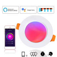 LED Downlight Dimmable RGB 7W Round Ceiling Recessed Lamp Led Bulb Bedroom Indoor LED Spot Lighting with Amazon Google Home
