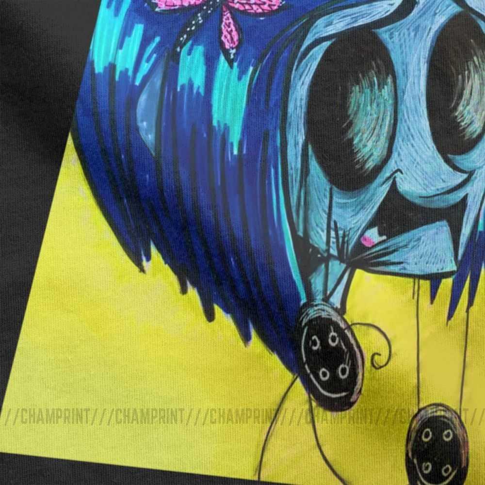 Men S T Shirt Coraline Fun Short Sleeve Coraline Jones Button Eyes Tee Shirt O Neck Clothing Pure Cotton Print T Shirts T Shirts Aliexpress