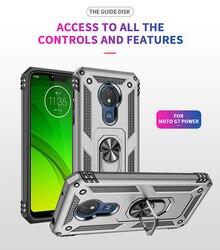 На Алиэкспресс купить чехол для смартфона for lg motorola g7 play armor magnetic ring case holder shockproof hard pc tpu case for moto g7 plus g7 power silicone back capa