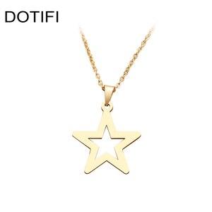 DOTIFI, какана, ожерелье из нержавеющей стали для женщин, классическое, полое, звезда, колье, подвеска, ожерелье, Помолвочное ювелирное изделие