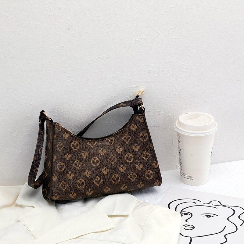 Женская сумочка-Багет из мягкой искусственной кожи с узором, однотонная дамская сумочка-Багет в стиле ретро, модная дизайнерская маленькая ...