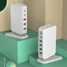 شاحن مهايئ طاقة 68 وات سريع الشحن 3.0 USB Type C PD 30 وات لهاتف أبل آيفون وهواوي وسامسونج اللوحي شاحن سريع بالمملكة المتحدة والاتحاد الأوروبي والولايات المتحدة