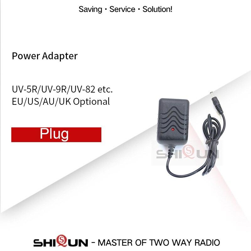 EU/US/AU/UK Power Adapter For Baofeng UV-5R UV-82 BF-F8HP UV-82HP UV-9R Plus UV-6R UV-5RE UV-5RA UV-XR Original Charger Plug