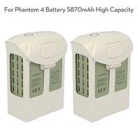 Nova marca fantasma 4 bateria 5870 mah de alta capacidade/5350 mah p4a 4pro plus lipo bateria de vôo inteligente para dji fantasma 4 zangão