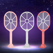 Electric fly mosquito racket electric mug killer fly swatter rechargeable electric fly swatter usb mosquitoes killer bug zapper expansion bar fly killer stainless steel retractable fly swatter plastic mosquito swatter multifunctional mosquito swatter