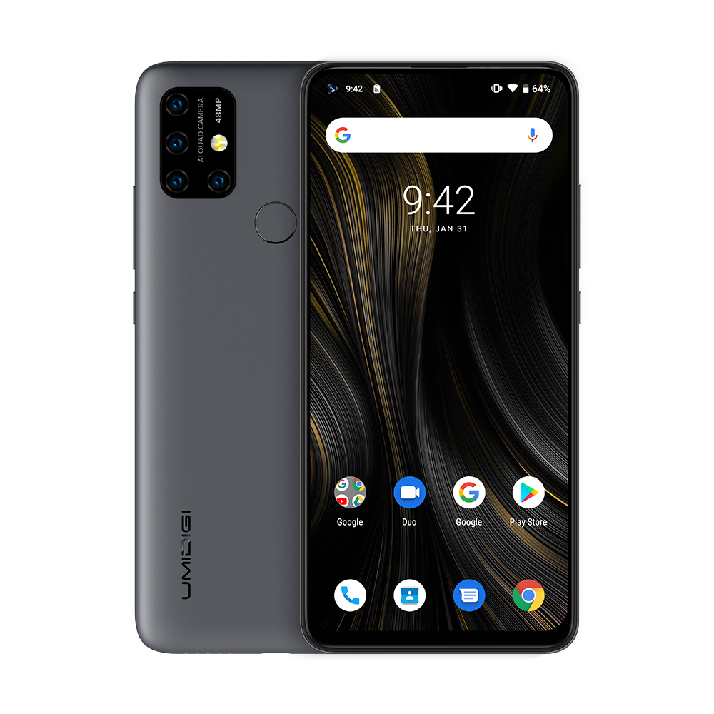 "UMIDIGI power 3 Android 10 48MP Quad AI камера 6150 мАч 6,5"" FHD+ 4 Гб 64 Гб Helio P60 глобальная версия смартфон NFC предпродажа - Цвет: Space Gray"