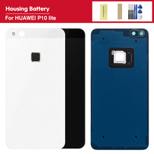 Replacement Parts For huawei P10 Lite/Nova Lite glass Back Cover for Huawei p10lite Back Battery Cover Housing +Adhesive Sticker