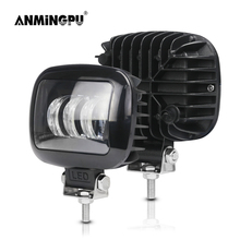 ANMINGPU 2x 5 Inch 30W Square LED Work Light Offroad Spot Beam LED Light Bar for Truck LADA 4x4 Suv Tractor Car LED Headlight