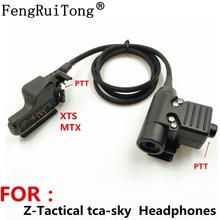 Тактический U94 PTT гарнитуры РТТ аксессуар для Z-тактический ТСА-Скай наушники для Motorola XTS5000 XTS в МТХ схем ht1000 GP900 MT2000 Радио