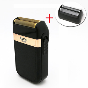 Image 2 - Kemei מכונת גילוח לגברים תאום להב עמיד למים הדדיות אלחוטי Razor USB נטענת גילוח מכונת בארבר גוזם