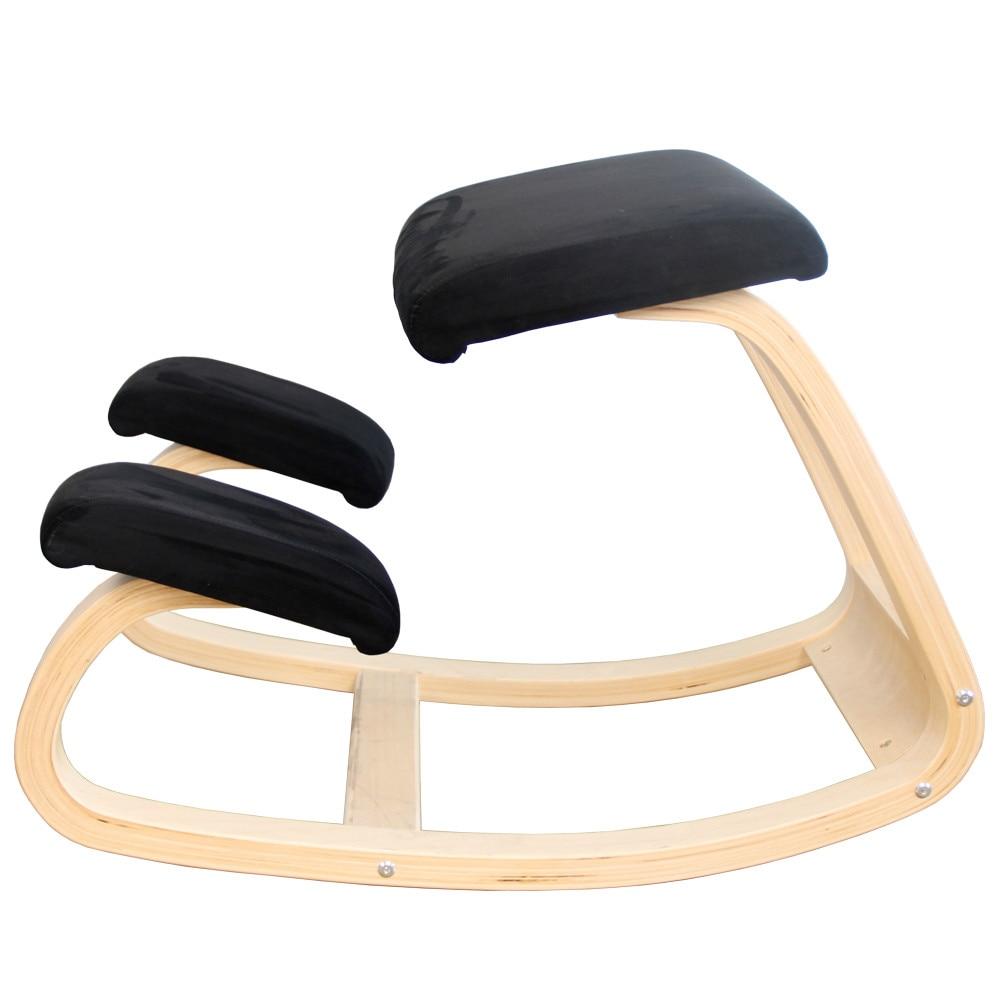 Design Correct Posture Anti-myopia Chair Ergonomic Kneeling Chair Stool Furniture Rocking Wooden Kneeling Computer Posture Chair