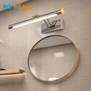 9W/12W L40/55CM LED Wall Lamp Modern Waterproof Bathroom Mirror Sconce Vanity Stainless Steel Lights Fixture AC85-265V
