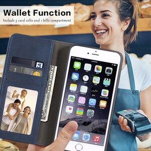 Image 2 - Sprawa dla Huawei Honor 6X przypadku magnetyczny portfel skórzany pokrowiec dla Huawei Honor GR5 2017 stojak Coque przypadki telefonów