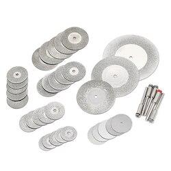 38 sztuk/zestaw diamentowa tarcza tnąca brzeszczot narzędzia dremel akcesoria ściernica zestaw narzędzi obrotowych koła piły tarczowe w Koła ścierne od Narzędzia na